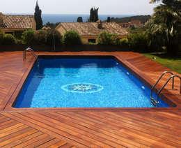 modern Zwembad door Quercus Jardiners