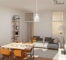 Salas de estilo escandinavo por Lagom studio