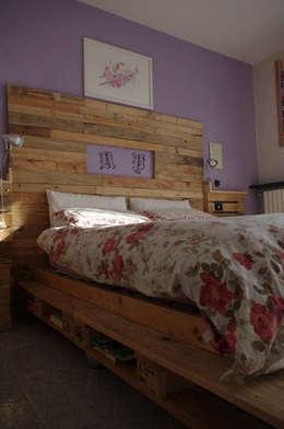 skandinavische Schlafzimmer von Dilegno InLegno