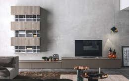 غرفة المعيشة تنفيذ Nova Cucina