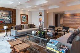 Departamento Altus : Salas de estilo moderno por Hansi Arquitectura