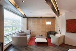 Salas de estilo moderno por Hansi Arquitectura