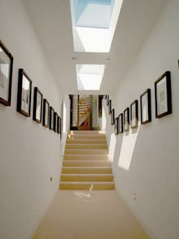 minimalistic Corridor, hallway & stairs by Trewin Design Architects