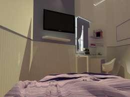 maqueta digital: Dormitorios de estilo moderno por Estudio BDesign