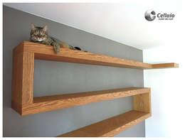 Półki do sypialni - bardzo wytrzymałe na obciążenia: styl , w kategorii Sypialnia zaprojektowany przez Cellaio