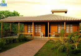 de style  par CASA & CAMPO - Casas pré-fabricadas em madeiras