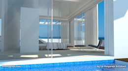 mediterraan Zwembad door Lis Melgarejo Arquitectura