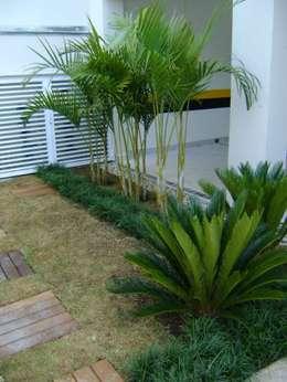 PAISAGISMO: JARDINS BY MC3: Jardins tropicais por MC3 Arquitetura . Paisagismo . Interiores