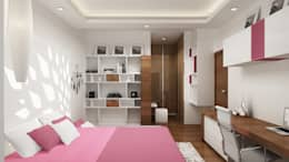 Daughter's Bedroom-View 01: modern Bedroom by De Panache  - Interior Architects