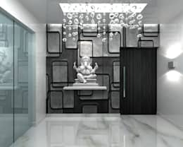 RESIDENTIAL INTERIOR, MYSORE. (www.depanache.in):  Corridor & hallway by De Panache  - Interior Architects