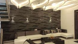 RESIDENTIAL INTERIOR, MYSORE. (www.depanache.in): modern Living room by De Panache  - Interior Architects