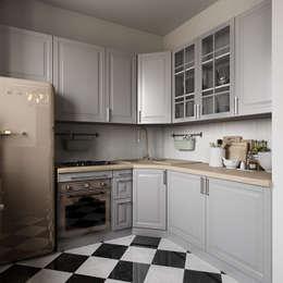 Интерьер квартиры 40 кв.м. в Мурманске: Кухни в . Автор – Студия дизайна интерьера Маши Марченко