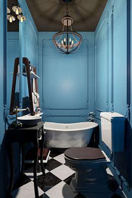 Интерьер квартиры 40 кв.м. в Мурманске: Ванные комнаты в . Автор – Студия дизайна интерьера Маши Марченко