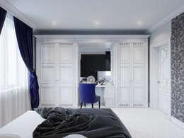 Camera da letto in stile in stile Classico di Студия дизайна интерьера Маши Марченко