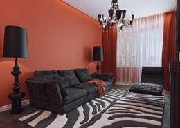 Квартира в ЖК «Новая Династия»: Гостиная в . Автор – Студия дизайна интерьера Маши Марченко