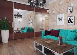 ห้องนั่งเล่น by Студия дизайна интерьера Маши Марченко