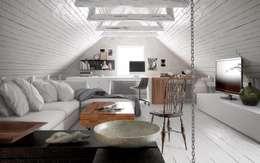 Vue interieur: Salon de style de style Moderne par L'Atelier 2630
