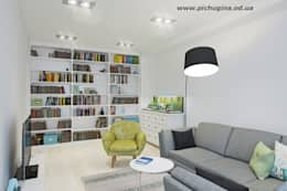 Salas de estar escandinavas por Tatyana Pichugina Design