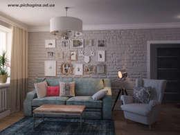 غرفة المعيشة تنفيذ Tatyana Pichugina Design