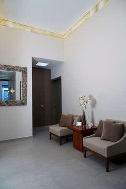 Salas de estilo minimalista por arketipo-taller de arquitectura