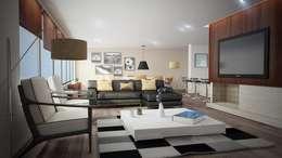 Proyecto Sala: Salas de estilo moderno por Pigmento 3D