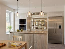 Shaker style cabinetry: industrial Kitchen by Holloways of Ludlow Bespoke Kitchens & Cabinetry
