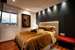 Dormitorios de estilo moderno por Régua Arquitetura