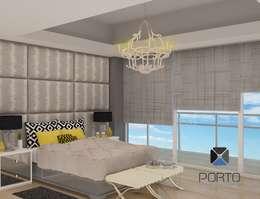 Habitaciones de estilo ecléctico por PORTO Arquitectura + Diseño de Interiores
