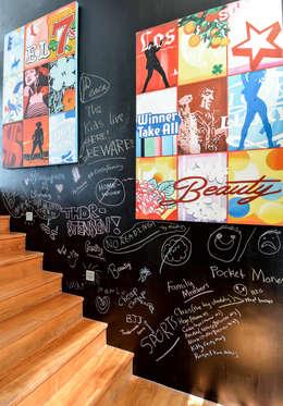 scandinavian Corridor, hallway & stairs by Design Intervention