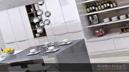 EN+SA MİMARİ TASARIM DEKORASYON MOB.İNŞ.SAN. VE TİC .LTD. ŞTİ – kalamer mutfak: modern tarz Mutfak