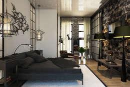 Лофт 17: Спальни в . Автор – Александра Клямурис
