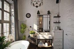 Лофт 17: Ванные комнаты в . Автор – Александра Клямурис