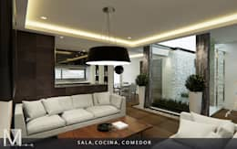 modern Living room by MIRARQ-CONSTRUCCIÓN