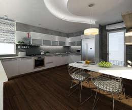 Treso İç Mimarlık – Gold Towers Konut: modern tarz Mutfak