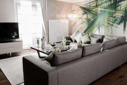 Treso İç Mimarlık – R.K. Konutu: modern tarz Oturma Odası