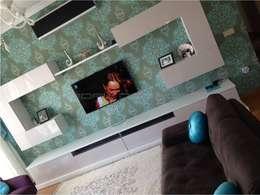 Erdal Demircan İç Tasarım ve Dekorasyon – Erdal Demircan İç Tasarım ve Dekorasyon: modern tarz Oturma Odası