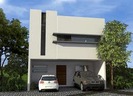 Casas de estilo moderno por studioQUATTRO.mx