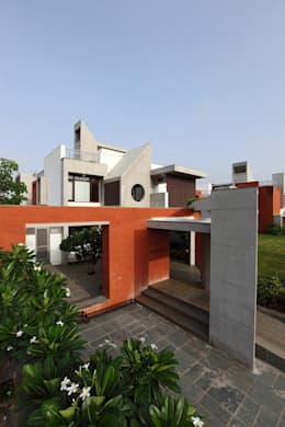 Dual house images: modern Houses by Vipul Patel Architects