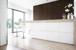 minimalistic Kitchen by Förstl Naturstein