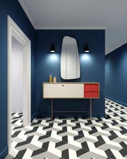Pasillos y recibidores de estilo  por Studio 25