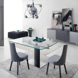 Table extensible moderne de design Bovary: Salle à manger de style de style Moderne par Viadurini.fr