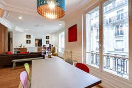 Intervention menuisée autour d'une entrée et d'un séjour : Salle à manger de style de style Moderne par ATELIER FB