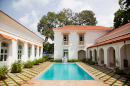 Villa Verde, Goa.: tropical Houses by Studio MoMo