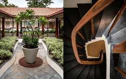 Villa Azul:  Corridor & hallway by Studio MoMo