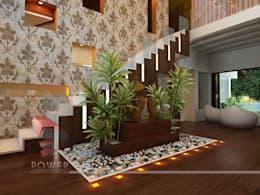 Salas de estar modernas por 3D Power Visualization Pvt. Ltd.