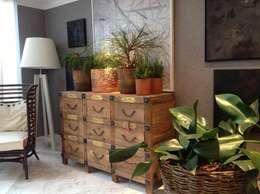 modern Living room by Aline Santa Rosa | Arquitetura e Interiores