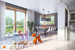 Projekt: Dom w kannach 3: styl , w kategorii  zaprojektowany przez ARCHON+ PROJEKTY DOMÓW