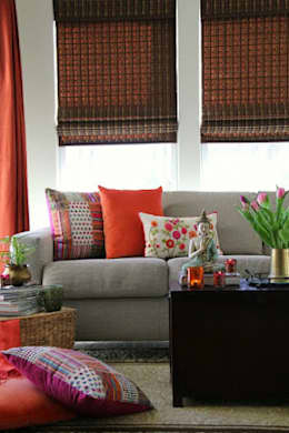 INDIAN INTERIOR DESIGN: modern Living room by srisutath