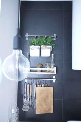 """Casa """"B"""": Cucina in stile in stile Industriale di Giulia Brutto Architetto"""