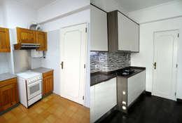 Кухни в . Автор – Happy Ideas At Home - Arquitetura e Remodelação de Interiores